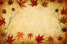 Free Abstract Grunge Floral Background With Leaves Stock Image - 16386781