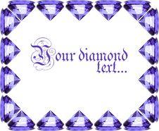 Beautiful Diamond Crystal Stock Photography