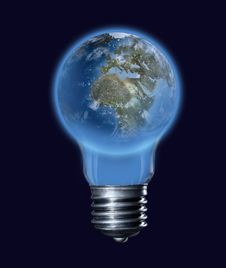 The Earth-bulb Stock Photography