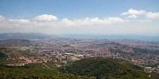 Free Panorama Of Barcelona Stock Photo - 16387600