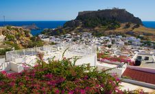 Free Ancient Town Lindos Royalty Free Stock Photos - 16387638