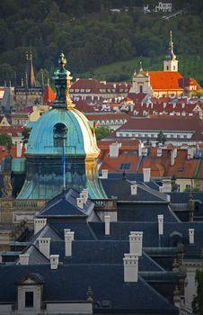 View Of Prague At Sunset Royalty Free Stock Photos