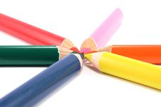 Free Colored Pencils Royalty Free Stock Images - 16388919