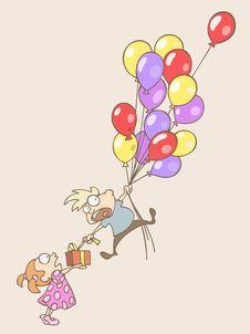 Balloon Birthday Royalty Free Stock Photography