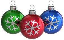 Free Christmas Balls. New Year Decoration (Hi-Res) Stock Images - 16389584