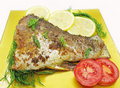 Free Grilled Fish With Vegetables Stock Images - 16392214