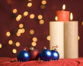 Free Christmas Ornament And Candle Royalty Free Stock Image - 16395366