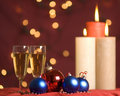 Free Christmas Ornament And Candle Lights Royalty Free Stock Image - 16395376