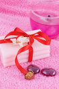 Free Soap With Roses And Candle Royalty Free Stock Images - 16396259