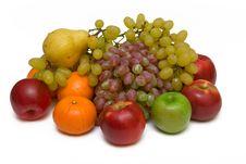 Free Fruits On White Background Stock Photo - 16390910