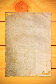 Free Old Paper On Wood Stock Images - 16391144