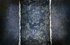 Free Grungy Denim With Faded Floral Effect Royalty Free Stock Images - 16391299