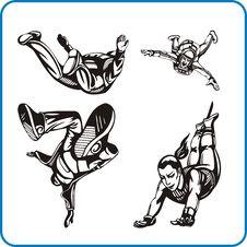 Free Parachute Jump. Royalty Free Stock Photos - 16392388