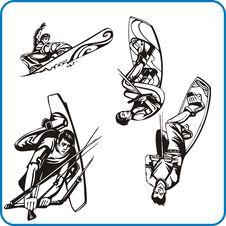 Free Parachute Jump. Stock Photo - 16392390