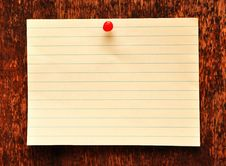 Free Blank Adhesive Note Against Old Wood Background Royalty Free Stock Images - 16392419