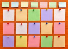 Free Bulletin Board With Colorful Paper Notes Royalty Free Stock Image - 16392516