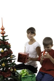 Free Children Have Received Gifts Stock Photo - 16392540