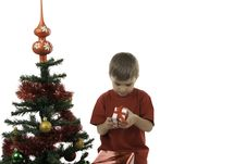 Free The Boy Has Received Gifts Stock Photo - 16392630