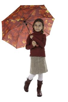 Free The Girl With An Umbrella Stock Image - 16392681