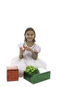 Free The Girl Has Received Gifts Royalty Free Stock Photo - 16392695