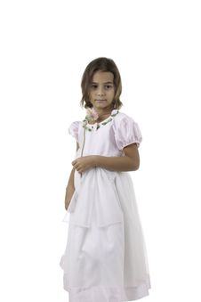 The Girl In A White Dress Royalty Free Stock Images