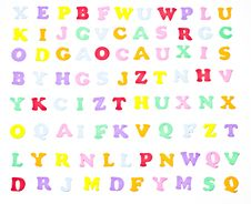 Free Tiny Alphabet Stock Images - 16392794