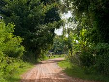 Free Village Road In Thailand Royalty Free Stock Photography - 16392907
