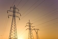 Free Electricity Pylons Stock Photo - 16392940