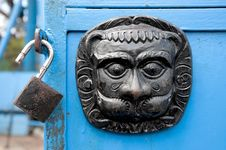 Free Original Metal  Door Decoration And Lock Stock Photos - 16393413