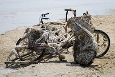 Free Remains Of Bicycles At Dead Sea Coast Stock Photo - 16393480