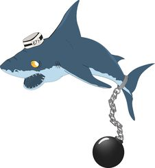 Free Shark The Prisoner Stock Photo - 16393490