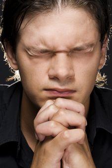 Free Young Man Praying Royalty Free Stock Images - 16393849