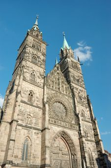 Evangelical Lutheran St.Lorenz Church In Nuremberg Royalty Free Stock Images