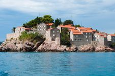 Free View Of Sveti Stefan Island From The Boat Royalty Free Stock Photos - 16394818