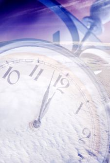 Free Clock Under Snow Royalty Free Stock Photography - 16395037