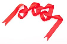 Free Red Ribbon Royalty Free Stock Images - 16395219