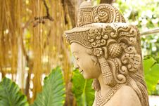 Free Thai Female Stone Sculpture Stock Images - 16395394