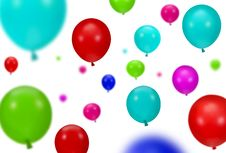 Free Background Of Color Party Balloons Stock Images - 16395574