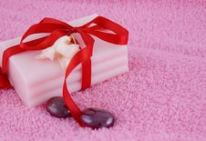 Free Soap With Roses And Stones Royalty Free Stock Photo - 16396235