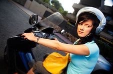 Free Woman On The Bike Royalty Free Stock Photography - 16396327