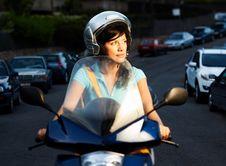 Free Woman On The Bike Stock Photos - 16396373