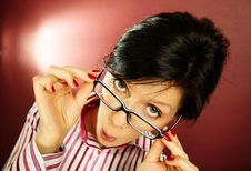 Free Nerd Office Woman Stock Photography - 16396442