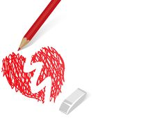 Free Pensil Painting Heart Royalty Free Stock Images - 16396579