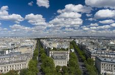 Free View Of Paris From The Arc De Triomphe Stock Photography - 16397752