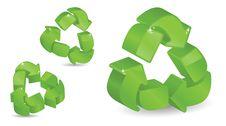 Free Three-Dimensional Recycling Symbols Stock Photo - 16397860