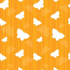 Free Orange Striped Butterfly Seamless Tile Stock Images - 16397974
