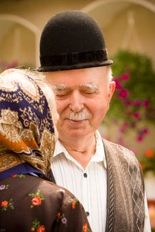 Free Old Couple Portrait Royalty Free Stock Images - 16398079