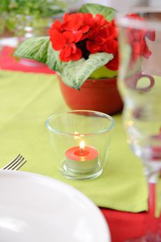 Free Candle In A Glass Candlestick Stock Photos - 16398103