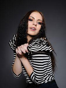 Beautiful Fashion Woman With Creative Make-up Royalty Free Stock Photos