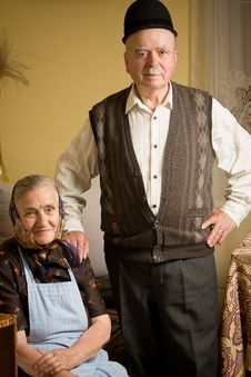 Free Old Couple Portrait Royalty Free Stock Photography - 16398497
